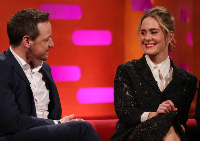 James McAvoy and Sarah Paulson