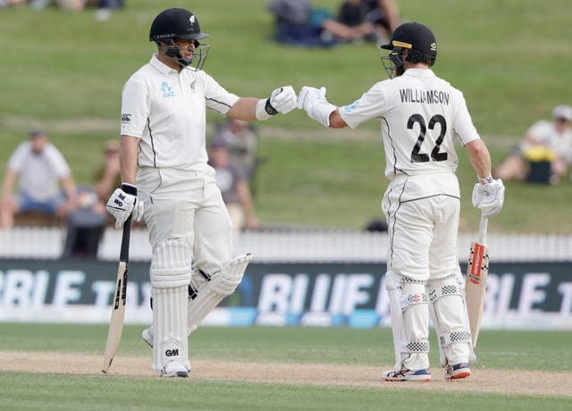 Ross Taylor, left, and Kane Williamson frustrated England