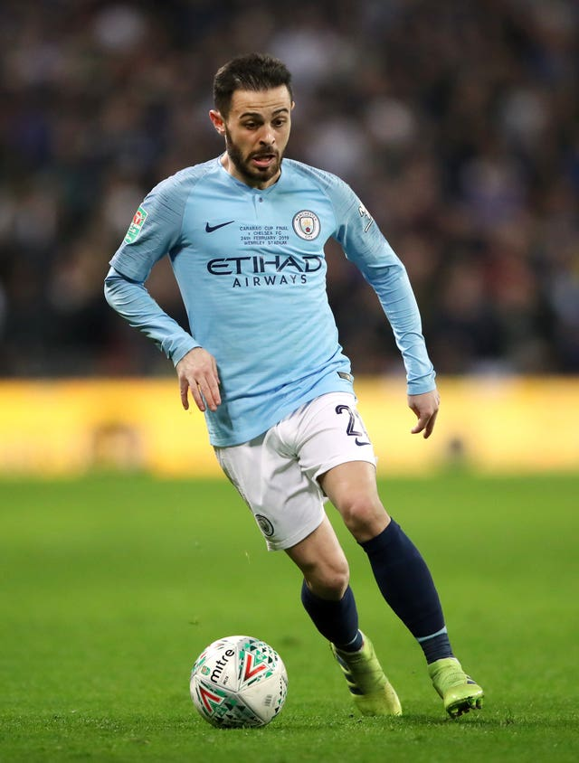 City are hoping Bernardo Silva will be fit to face Crystal Palace