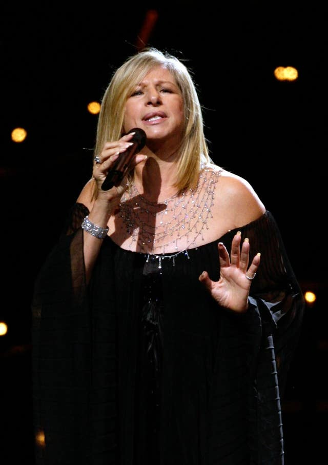 Barbra Streisand in concert at the O2 Arena – London