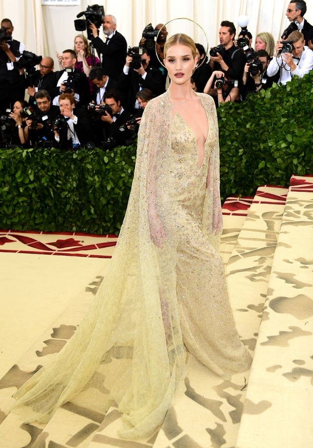 Rosie Huntingdon-Whiteley in Ralph Lauren (Ian West/PA)