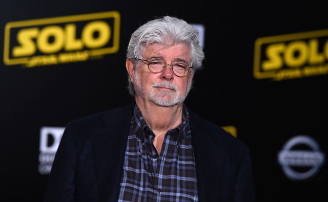 George Lucas arriving at the premiere of the latest film in the franchise he started four decades ago (Jordan Strauss/AP)