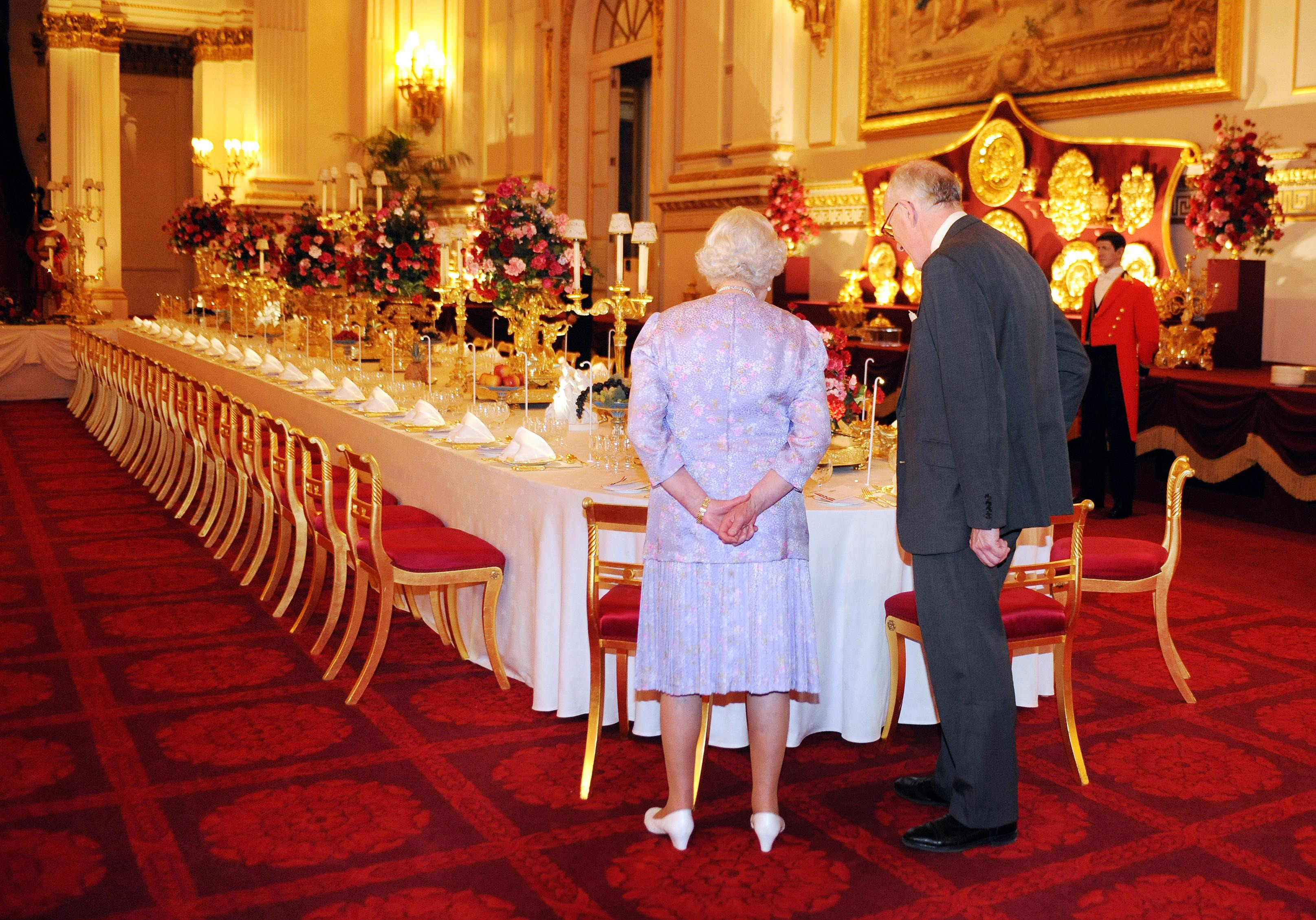 Trump Attends State Banquet Hosted by Queen Elizabeth II