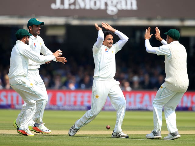 Mohammad Abbas took the wicket of Alastair Cook