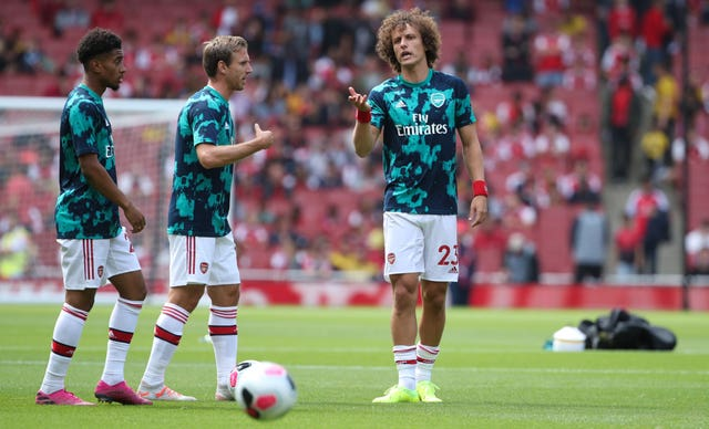 Luiz made his Arsenal debut in Saturday's win over Burnley.