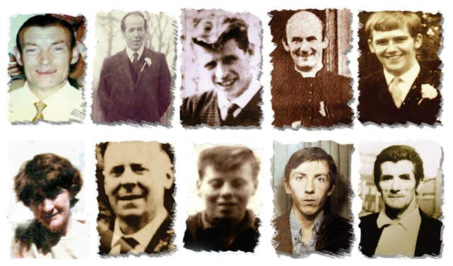 Photos of those killed at Ballymurphy