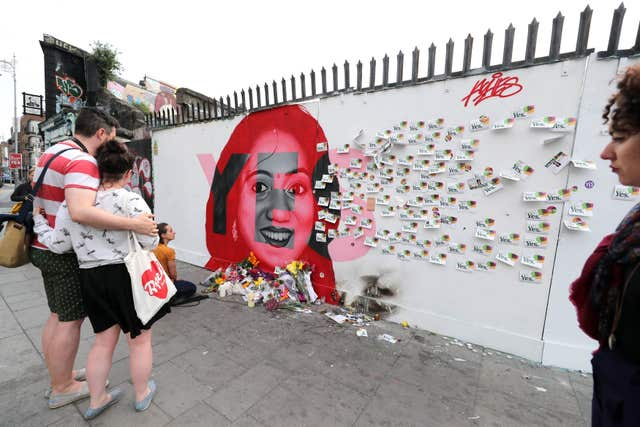 The mural of Savita Halappanavar in Dublin (Niall Carson/PA)