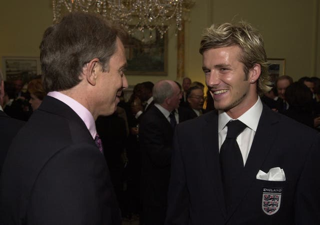 Even Prime Minister Tony Blair expressed his concern about David Beckham's well-being