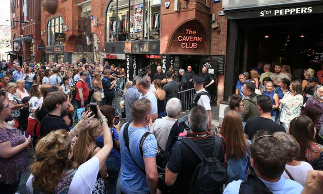 Paul McCartney performs at the Cavern Club – Liverpool