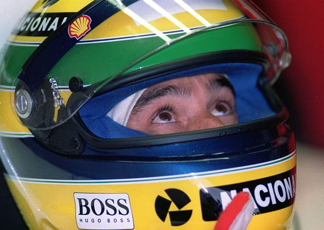 The Brazilian in the cockpit of his car during practice for the 1993 European Grand Prix at Doddington Park