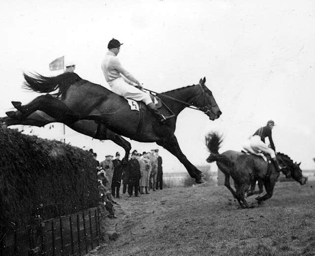 Devon Loch, the Queen Mother's horse, was on course to win the 1956 Grand National