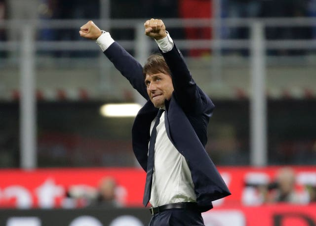 Inter boss Antonio Conte celebrated victory