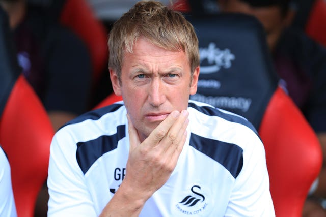 Graham Potter led Swansea to 10th in the Sky Bet Championship