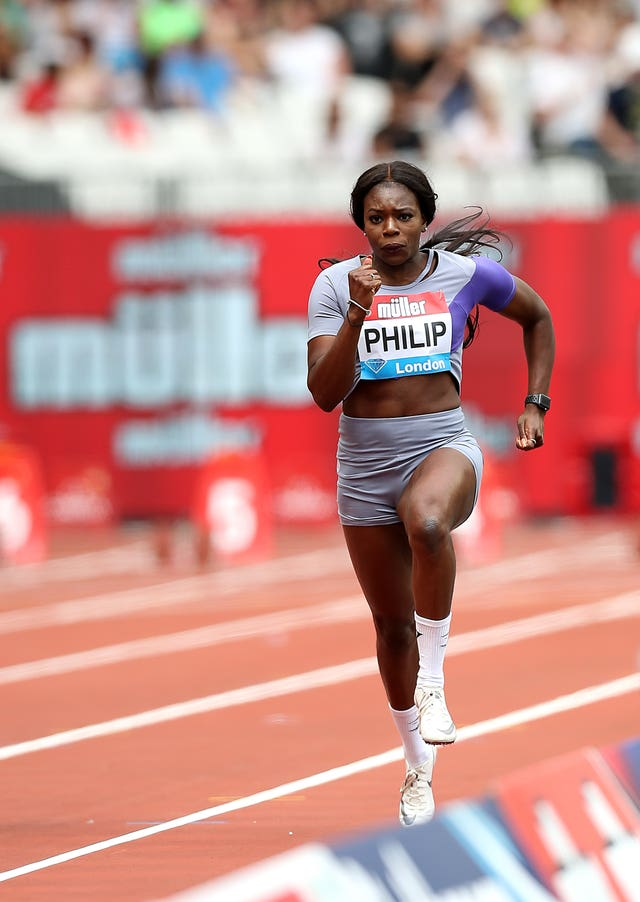 Asha Philip was also in action on Sunday