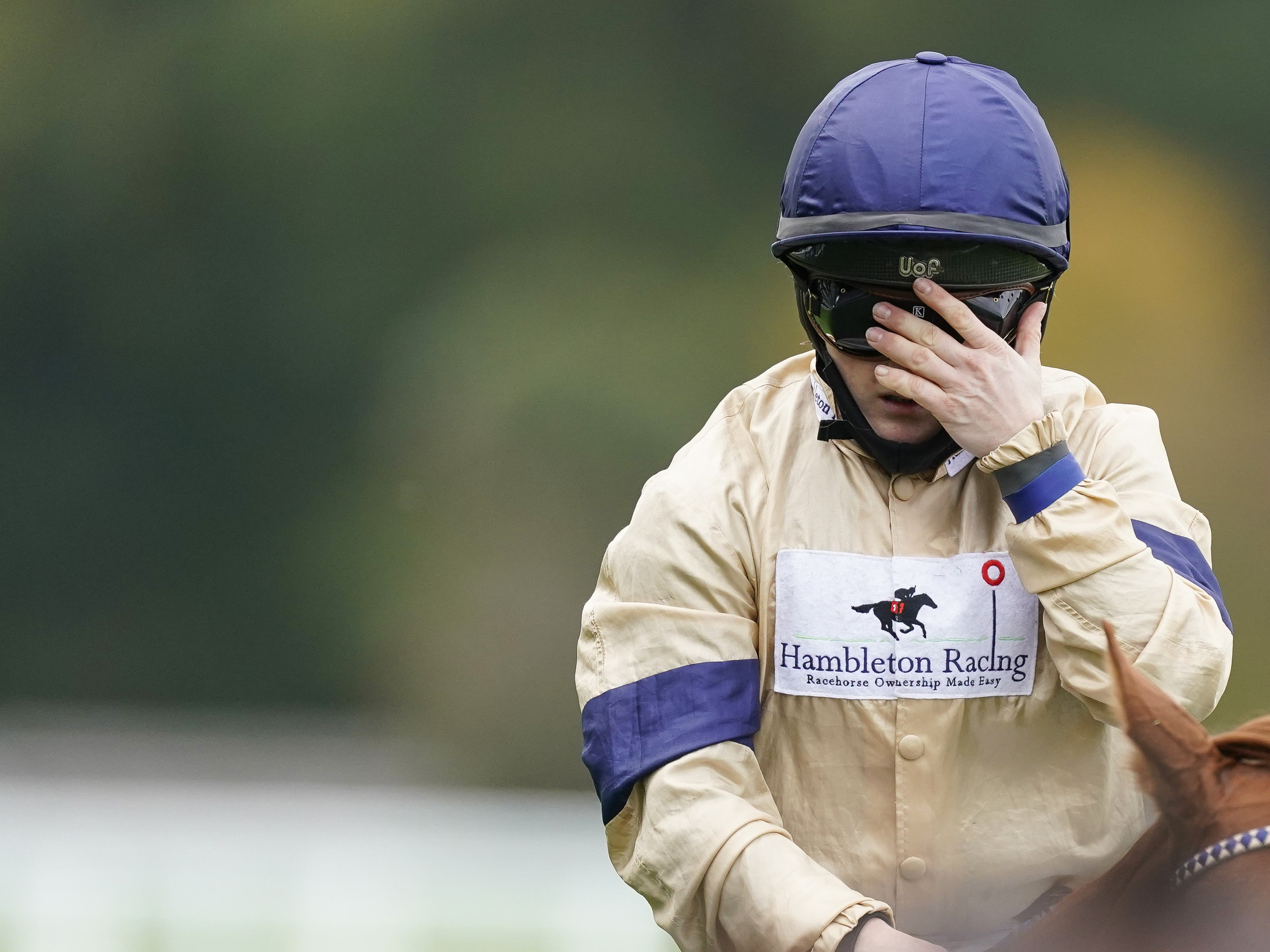 Glen Shiel and Hollie Doyle after winning the Qipco British Champions Sprint Stakes at Ascot (Alan Crowhurst/PA)