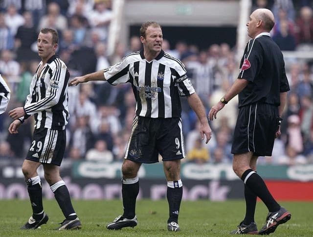 Bowyer (left) departed the field with a ripped shirt after the confrontation with Dyer (Owen Humphreys/PA).