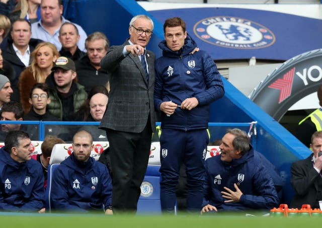 Fulham manager Claudio Ranieri (left) and assistant Scott Parker (right). (PA)