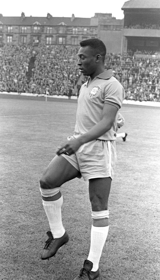 Pele, whose real name is Edson Arantes do Nascimento