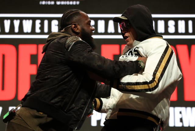 Deontay Wilder and Tyson Fury clashed at their press conference on Wednesday