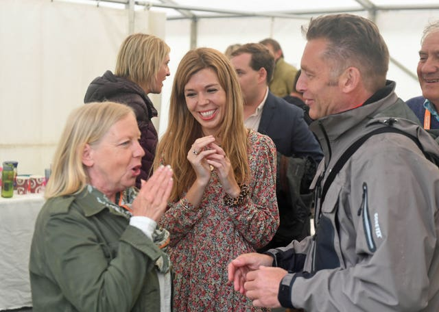Carrie Symonds attends Birdfair