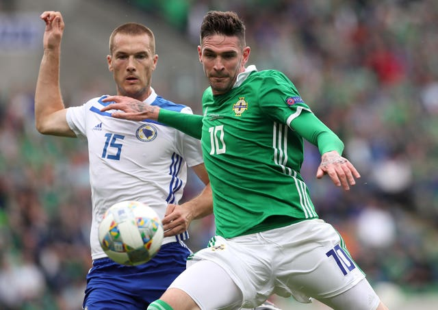 Kyle Lafferty featured against Bosnia in Northern Ireland's Nations League opener