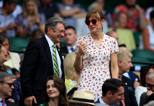 Alan Titchmarsh with Fiona Bruce at Wimbledon 2019 – Day Nine – The All England Lawn Tennis and Croquet Club