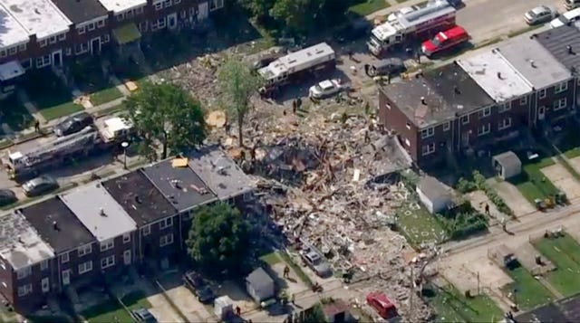The explosion levelled several homes