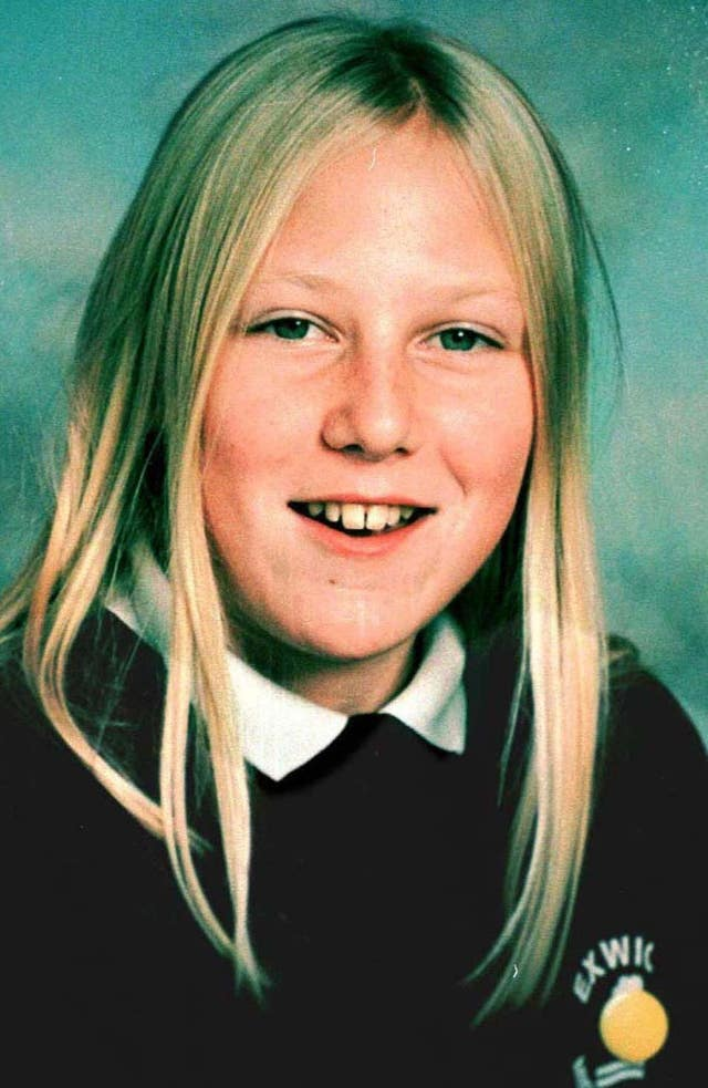 14-year-old Kate Bushell was murdered just yards from her home near Exeter in Devon in November 1997 as she walked a neighbour's dog (Devon and Cornwall Police/PA).