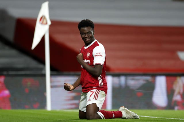 Bukayo Saka was among the scorers for Arsenal