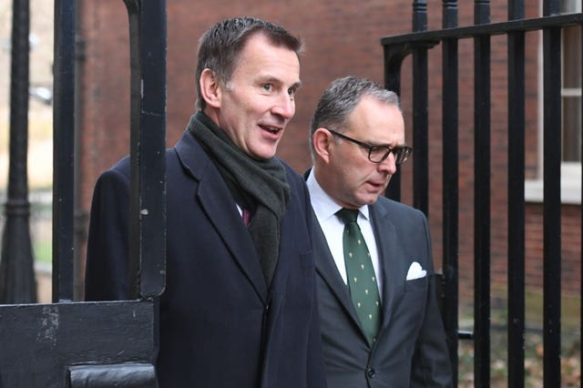 Foreign Secretary Jeremy Hunt (left) and Sir Mark Sedwill