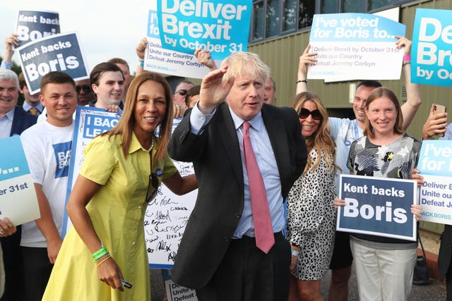 Boris Johnson at the Tory leadership hustings in Maidstone