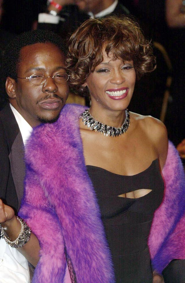 Whitney Houston, pictured here with her then husband Bobby Brown, was sexually abused as a child, according to a new documentary (William Conran/PA)