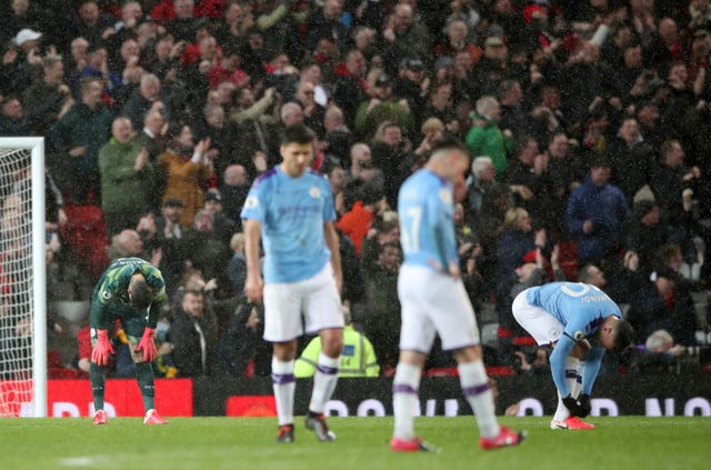 Manchester City trail Premier League leaders by 25 points following their derby defeat at Old Trafford
