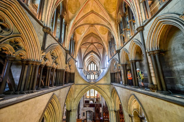 The tour will also show visitors inside the cathedral from a high level (Ben Birchall/PA)