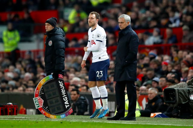 Christian Eriksen has found himself out of favour under Jose Mourinho