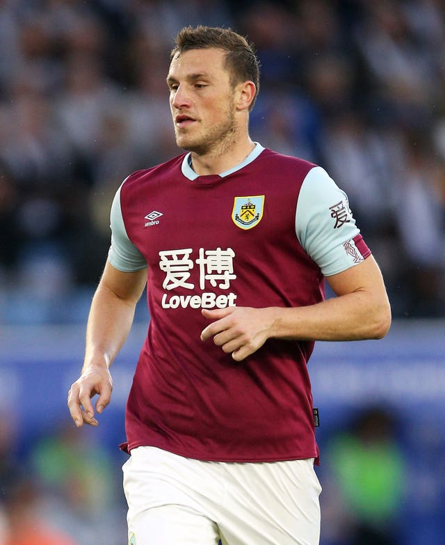 Chris Wood was back for Burnley after injury