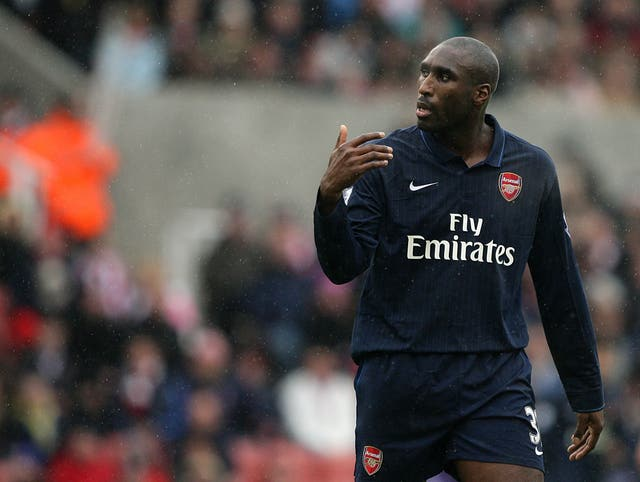 Sol Campbell during his Arsenal days