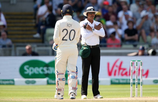 Umpire Joel Wilson had a Test to forget