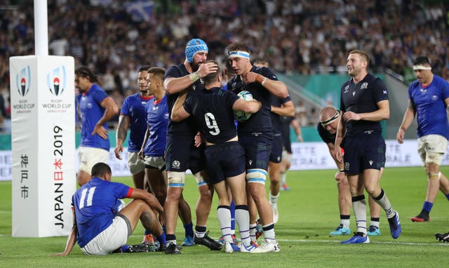 Scotland returned to winning ways against Samoa after defeat in their World Cup opener against Ireland