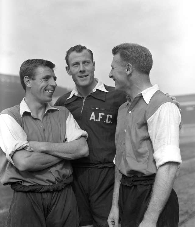 In his playing days, Docherty (right) spent nine years at Preston before joining Arsenal (PA Archive/PA Images)