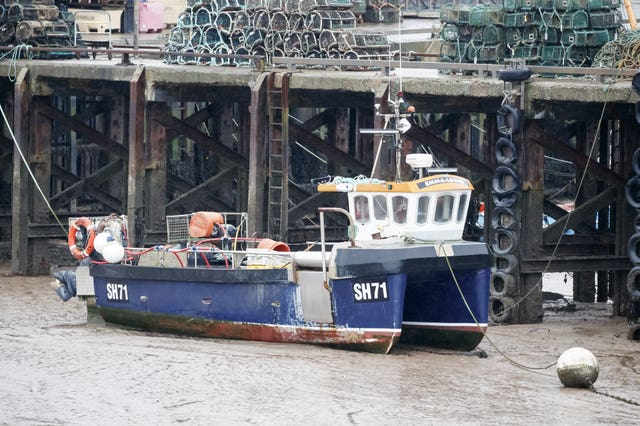 A fishing boat at Bridlington Harbou