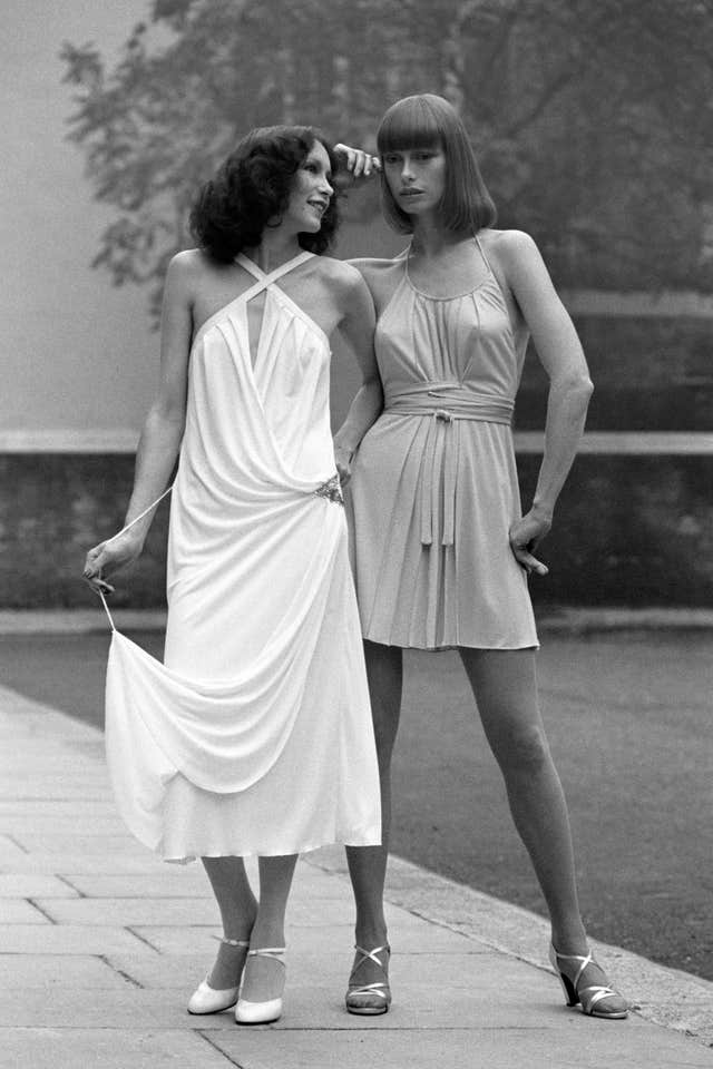 Fashion – Bruce Oldfield Borghese Spring Collection – 1975