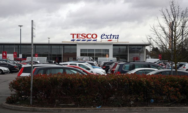 The Tesco in Stanwell where police were called to reports of a stabbing (Steve Parsons/PA Wire)