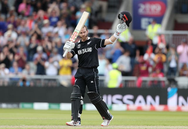Kane Williamson celebrates his century against the West Indies