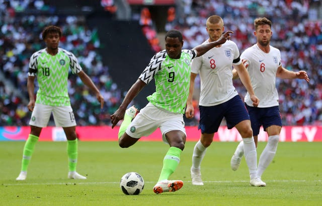 Odion Ighalo played for Nigeria against England ahead of the 2018 World Cup