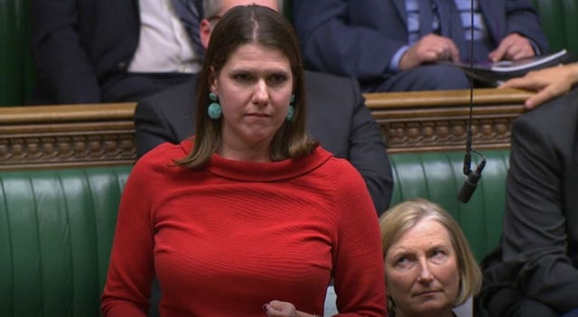 Jo Swinson during the election debate