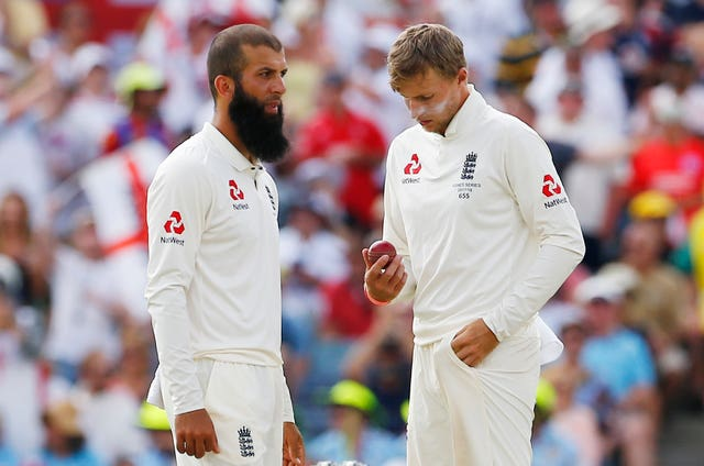 Joe Root (right) initially said Moeen Ali (left) had