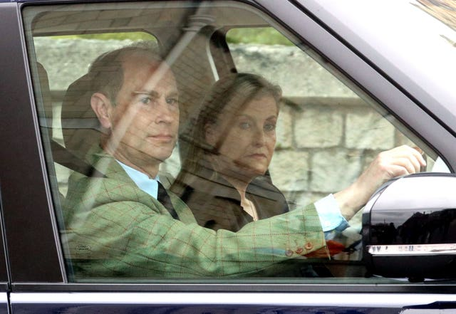 The Earl and Countess of Wessex arrive at Windsor