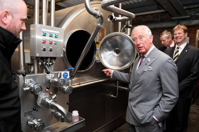 Prince Charles toured the brewhouse at St Austell Brewery