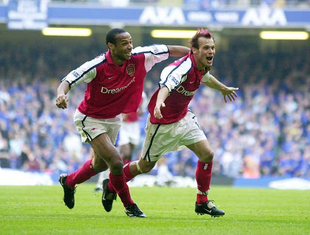 Ljungberg scored in the FA Cup final for a second year in a row as Arsenal beat Chelsea in 2002.